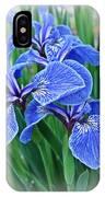 Flag Iris Blues IPhone Case