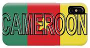 Flag Of Cameroon Word. IPhone Case