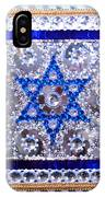 Flag Of Israel. Bead Embroidery With Crystals IPhone Case