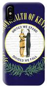 Flag Of Kentucky Wall IPhone Case