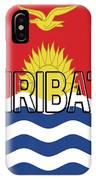 Flag Of Kiribati Word IPhone Case