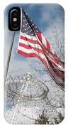 Flag Over Spokane Pavilion IPhone Case