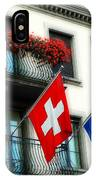 Flags Of Switzerland And Zurich IPhone Case