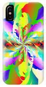 Flamboyant Fractal Fire Flower IPhone Case