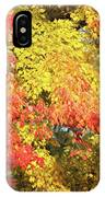 Flaming Autumn Leaves Art IPhone Case
