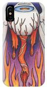 Flaming Flying Eyeball IPhone Case