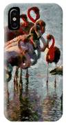 Flamingo Family IPhone Case