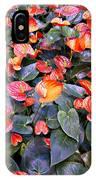 Flamingo Flower Bed IPhone Case