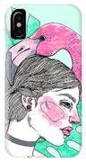 Flamingo Girl IPhone Case