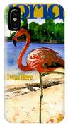 Flamingo In Florida Shirt IPhone Case