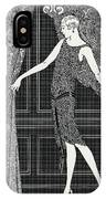 Flapper Opening A Curtain IPhone Case
