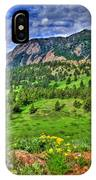 Flatirons And Clouds IPhone Case