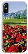 210546-v-flatirons And Flowers V  IPhone Case