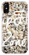 Flip Flop Zone Seashell Background IPhone Case
