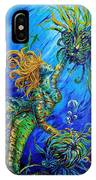 Floating Blond Mermaid IPhone Case