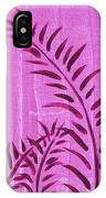 Flora Fauna Tropical Abstract Leaves Painting Magenta Splash By Megan Duncanson IPhone Case