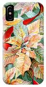 A Peachy Poinsettia IPhone Case