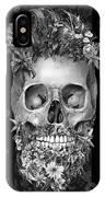 Floral Beard Skull 3 IPhone Case