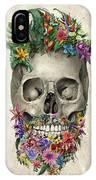 Floral Beard Skull IPhone Case