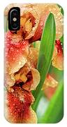 Floral Bearded Iris With Rain Drops  IPhone Case