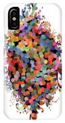 Floral Bouquet Abstract With Dots IPhone Case