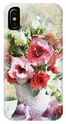 Floral Bouquet Table Setting In Tiny Bubbles IPhone Case