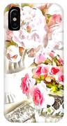 Floral Bouquets Pink Roses  IPhone Case