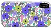 Floral Burst Of Blue IPhone Case
