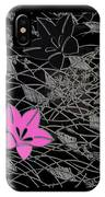Floral Chirimen IPhone Case