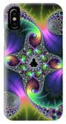 Floral Fractal Art Jewel Tones Vertical IPhone Case