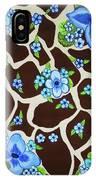 Floral Giraffe Print IPhone Case