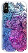 Blue Floral Indian Pattern IPhone Case
