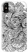 Black And White Floral Indian Pattern IPhone Case