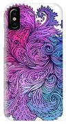 Lilac Floral Indian Pattern IPhone Case