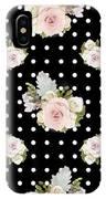 Floral Rose Cluster W Dot Bedding Home Decor Art IPhone Case