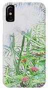 Floral Sketch IPhone Case