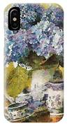 Floral Table Onset In Tiny Bubbles IPhone Case