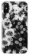 Floral Texture In Black And White IPhone X Case