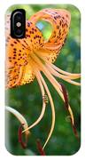 Floral Tiger Lily Flower Art Print Orange Lilies Baslee Troutman IPhone Case