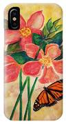 Floral With Butterfly IPhone Case