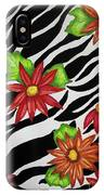 Floral Zebra Print IPhone Case