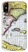 Florida: Map, 1591 IPhone Case