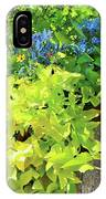 Flower Among Leaves IPhone Case