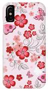 Flower And Butterfly Bj01 IPhone Case
