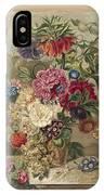 Flower Arrangement, Anthonie Van Den Bos, 1778 - 1838 B IPhone Case