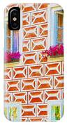 Flower Boxes In Slavonice IPhone Case