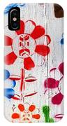 Flower Face Murial IPhone Case