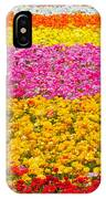 Flower Fields Carlsbad Ca Giant Ranunculus IPhone Case