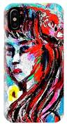 Flower Girl Portrait  IPhone Case