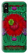 Flower Girl With Sunrose In Her Hair And Pandabears IPhone Case